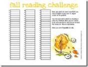 fall reading challenge