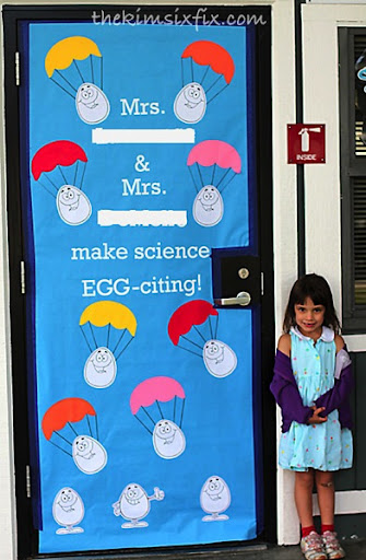 EggCiting teacher door  sc 1 st  The Kim Six Fix & Teacher Appreciation Door Decorating Ideas (and Tutorial) - The Kim ...