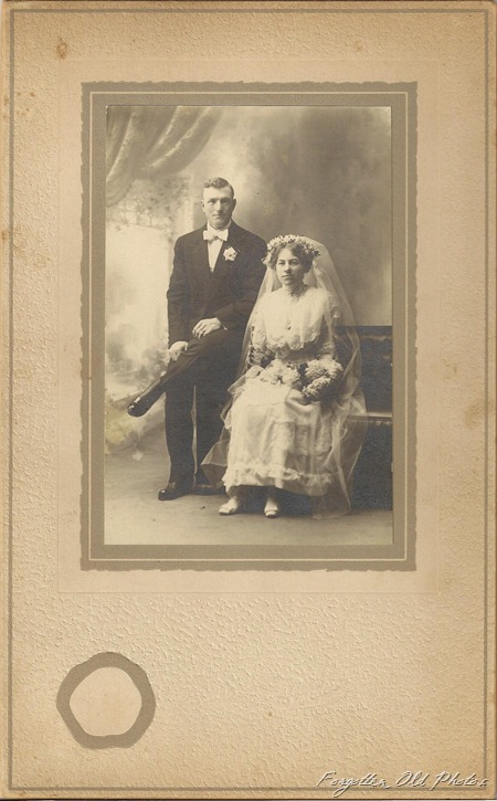 Wedding photo Friend or relative of Elmer Westling  DL Antiques