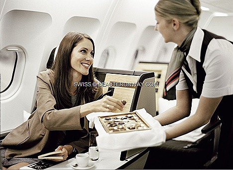 Swiss Singapore Zurich launch offer sale fare Europe holiday Milan Barcelona Geneva Australia, New Zealand, Asia, Business Class seats 2-metre lie-flat bed.Swiss Airbus A340-300 aircraft, flight LX179 LX 178