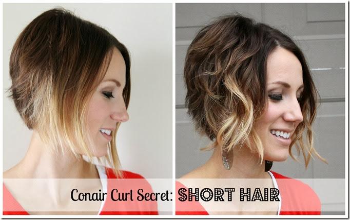 Conair Curl Secret- Tutorial for Short Hair #shop #cbias #ConairCurl