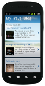 Blogger Mobile Version