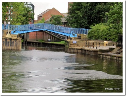 Scene's along the River Ouse. The rivers Ouse and Foss join here. The lift bridge has to be wound up and down by hand.