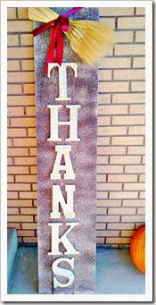 thanks sign