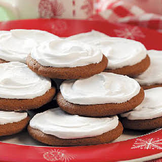 Frosted Molasses Cookies.