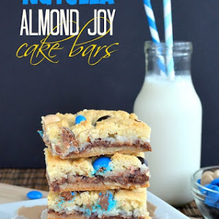 Nutella Almond Joy Cake Bars