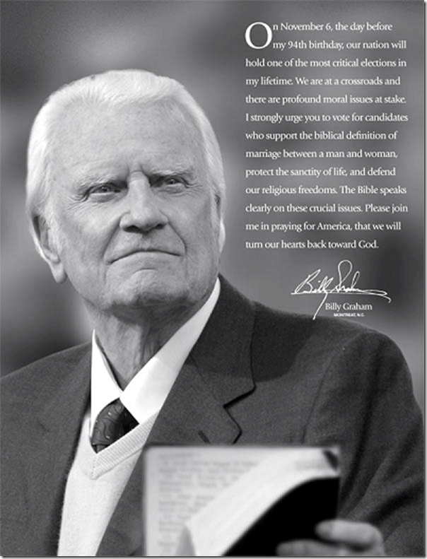 billy graham election