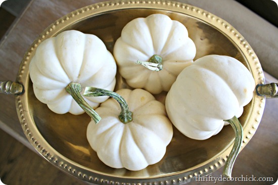 white pumpkins in bowl