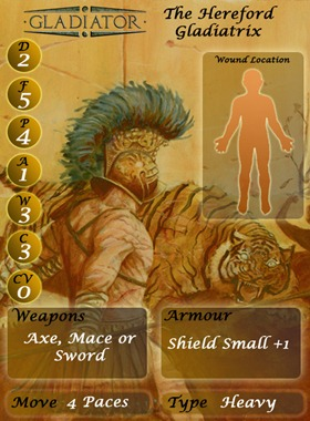 Warhammer Historical Gladiator Card