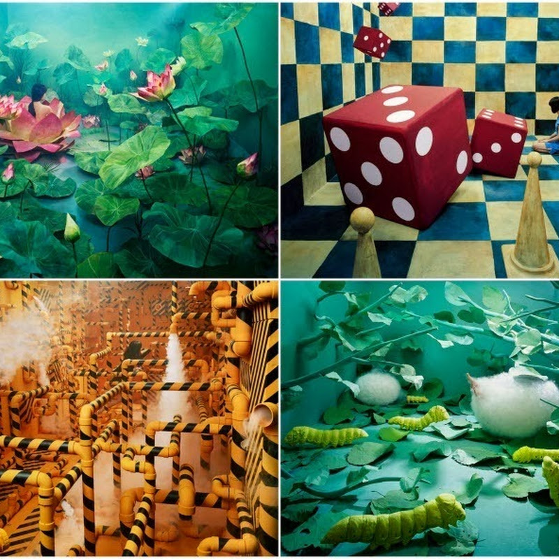 Artist Transforms Her Tiny Studio into Surreal Fantasy Worlds