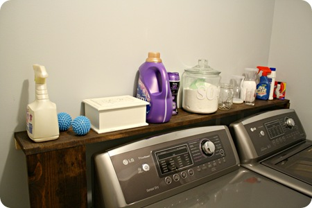 Diy Shelf Behind Washer And Dryer From Thrifty Decor Chick