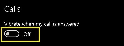 Rung khi nhận cuộc gọi Windows 10 Mobile