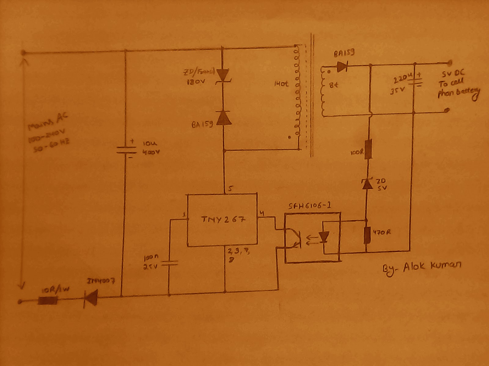 electronic circuits transformerless power supply led drivers circuit diagram the mains input which can be anywhere between 100v and 280v ac is half wave rectified and filtered through shown 1n4007 diode and 10uf 400v
