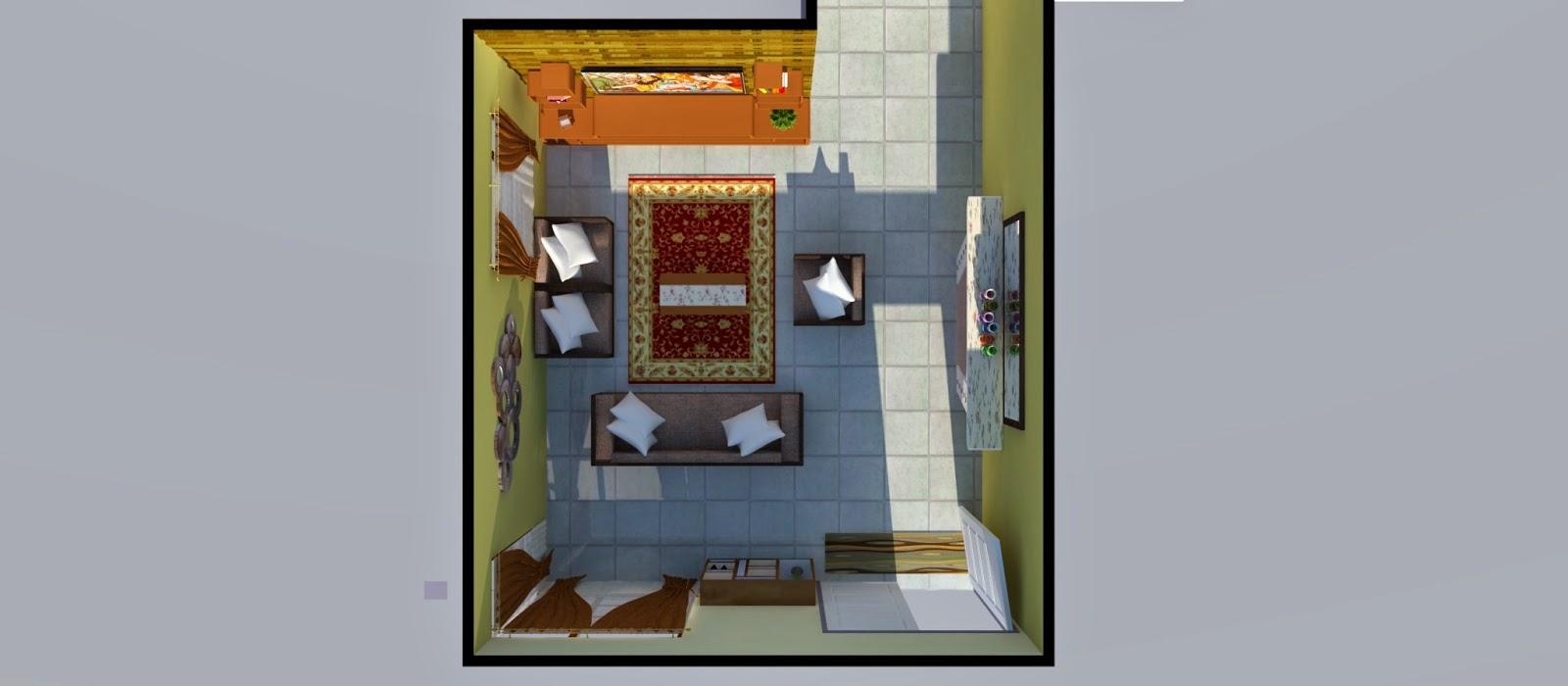 Susun Atur Ruang Tamu Bentuk L Desainrumahid