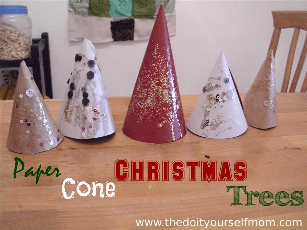Paper Cone Christmas Trees Large