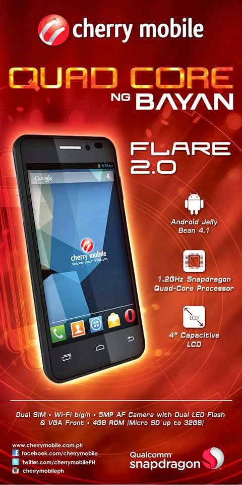 Cherry Mobile Flare 2.0 Quad-Core Specs Price Availability