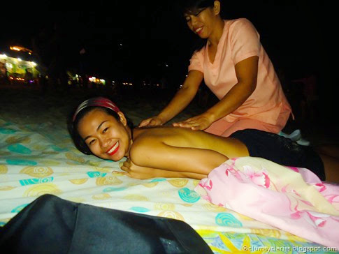 Body Massage on the beach