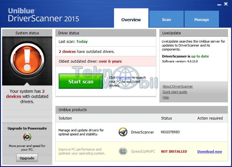 Uniblue DriverScanner Full