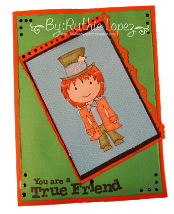 Mad hatter card - Platypus Creek Digitals -