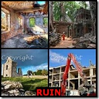 RUIN- 4 Pics 1 Word Answers 3 Letters