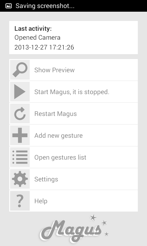 Magus Free 3D Gesture Launcher - screenshot