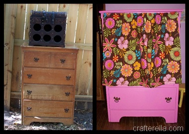 dresser redo before and after