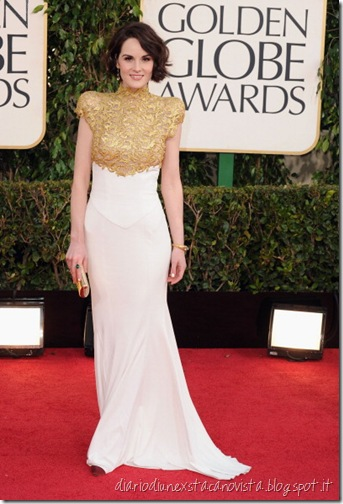 Michelle Dockery in Alexandre Vauthier at the Golden Globes, January 13th