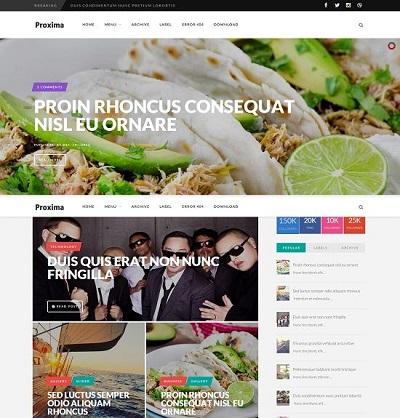 Template Proxima cho Blogspot