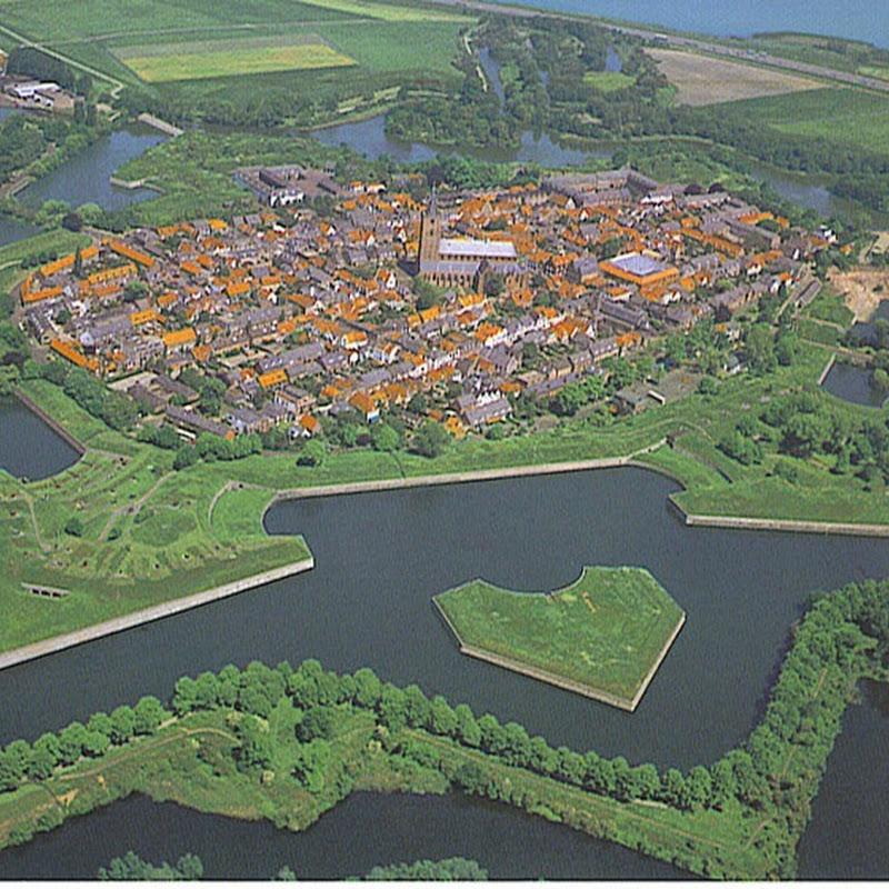Beautiful Fortified City Of Naarden, The Netherlands