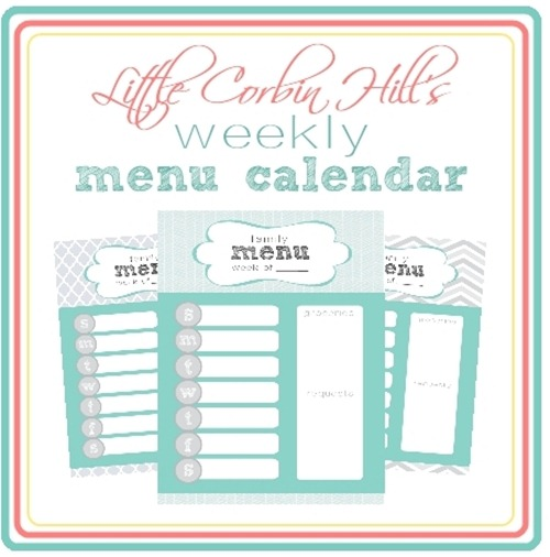 weekly menu printable preview