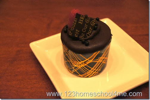 Delicious Triple Chocolate Cupcake Dessert at Be Our Guest Restaurant