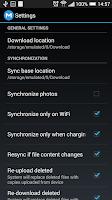Screenshot of MEGA Storage Manager