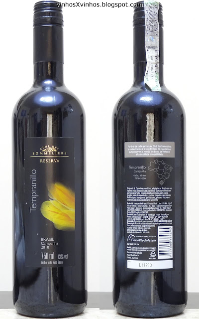club des sommeliers tempranillo