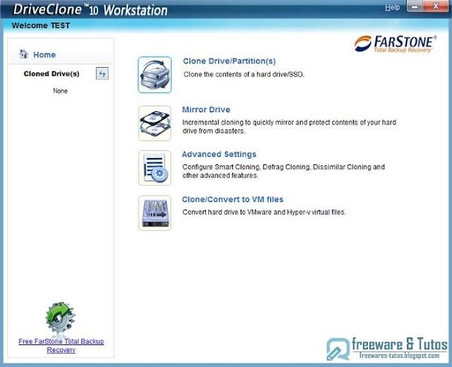DriveClone NC : un logiciel gratuit pour cloner votre disque dur