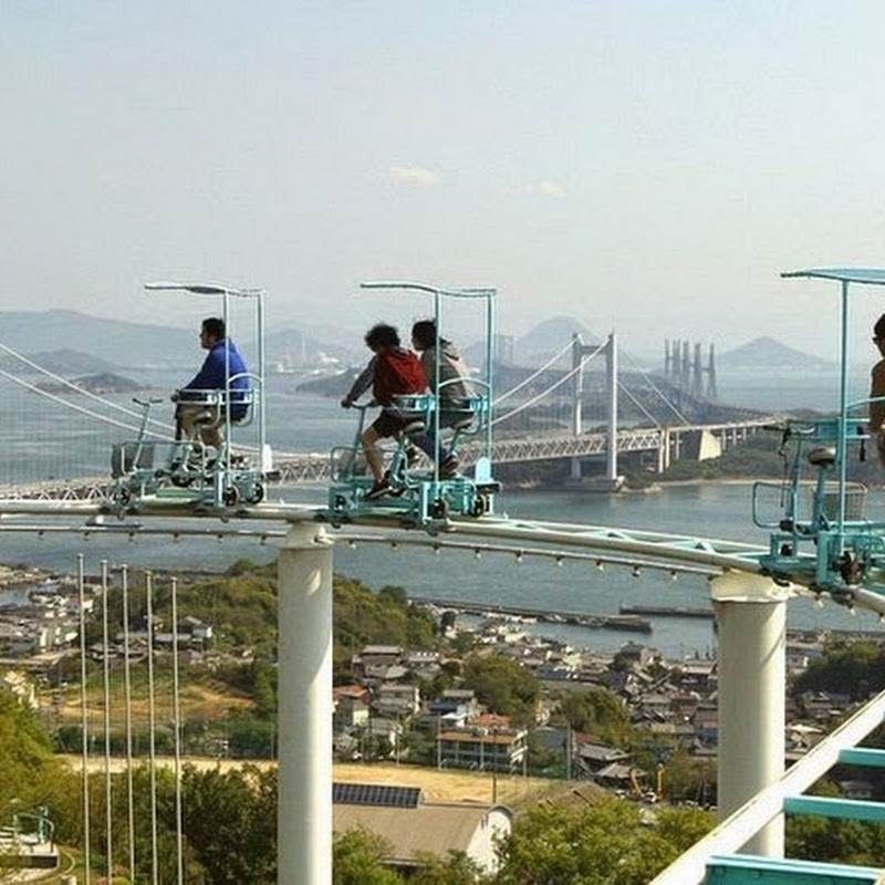 SkyCycle, A Pedal Powered Roller Coaster in Japan