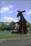 Eselskulptur Britzer Damm, Buckower Damm