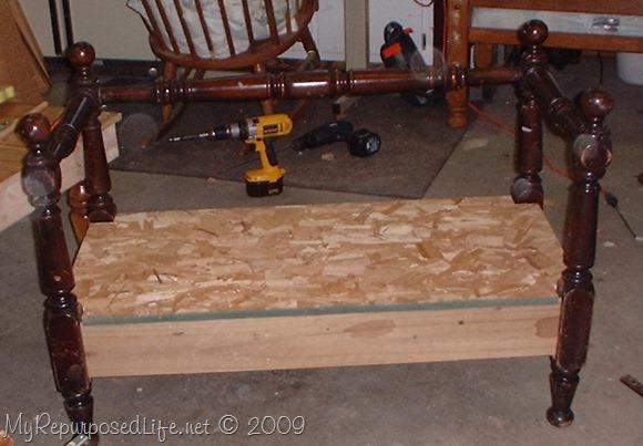 repurposed bunk bed