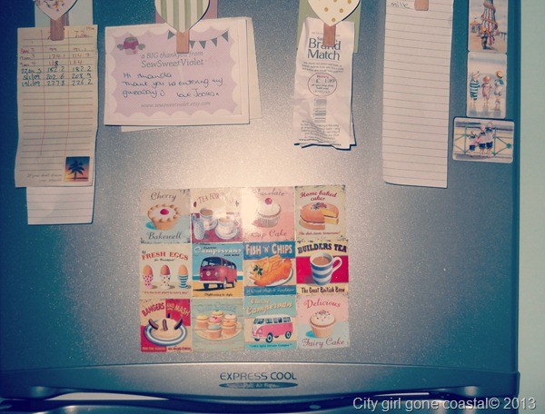 on the fridge