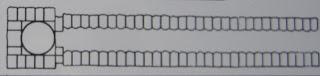 схема разреза подземной гробницы царского кургана в керчи,   вид сверху
