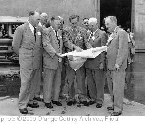 'Walt Disney shows Disneyland plans to Orange County officials, Dec. 1954' photo (c) 2009, Orange County Archives - license: https://creativecommons.org/licenses/by/2.0/
