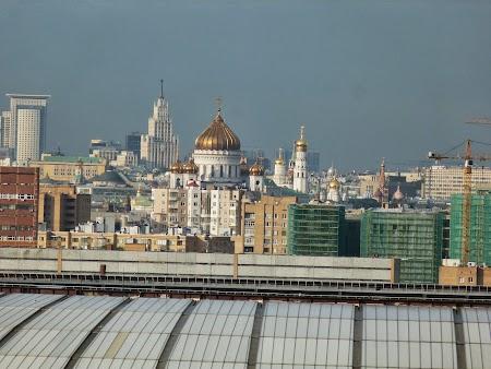 Obiective turistice Moscova:. Dealurile Lenin Moscova - Catedrala lui Isus Mantuitorul
