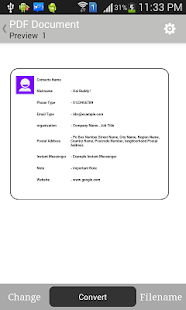 Contacts to ( Text,PDF,Email) - screenshot thumbnail