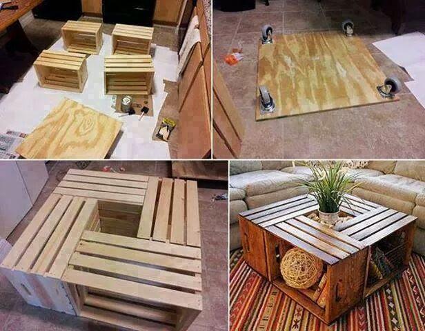 comment faire une table basse originale id es fait main. Black Bedroom Furniture Sets. Home Design Ideas