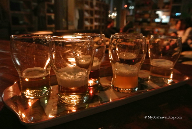 Beer and Cider Samples at Little Creatures