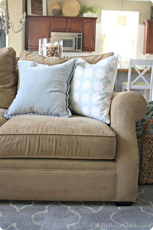 arhaus neutral sofa