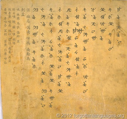 Ancient Golden Lisu Manuscript