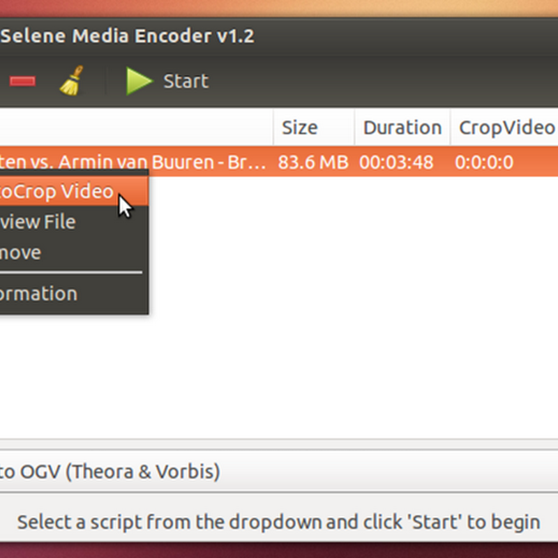 Selene Media Encoder software open source dedicato alla conversione di file audio e video.