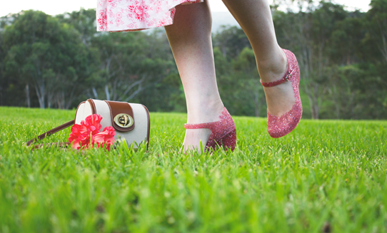Glitter sandals add the perfect sparkle | Lavender & Twill