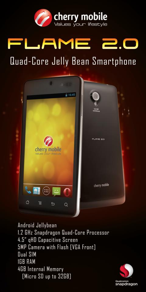 cherry mobile flare 2.0 specs price availability