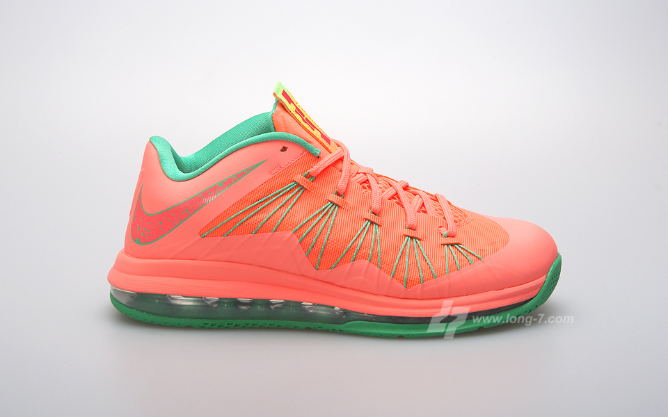 ac75618256a8 Another Look at Nike Air Max LeBron X Low WATERMELON